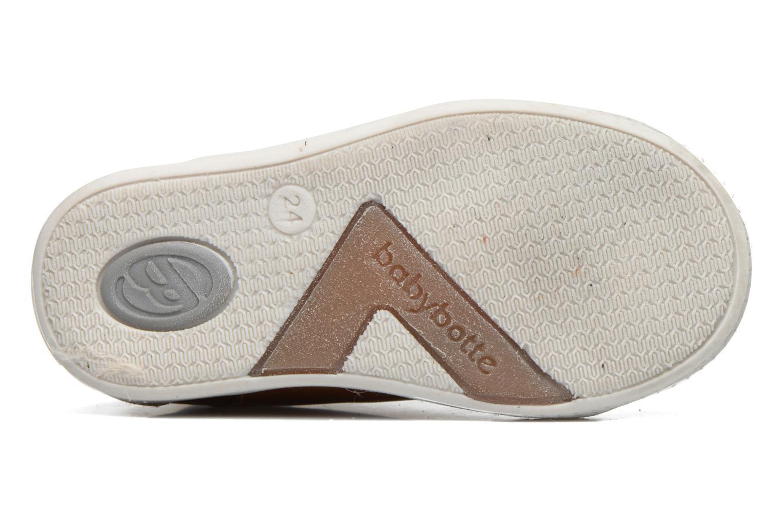 Sneaker Babybotte B3 Lacet braun ansicht von oben
