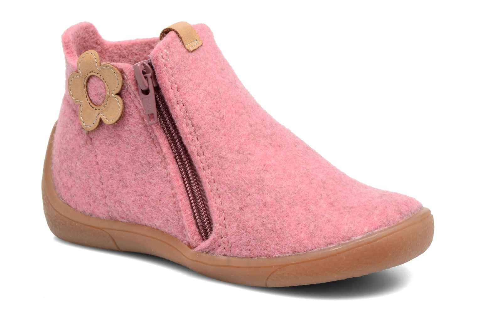 Slippers Babybotte Marguerite Pink detailed view/ Pair view