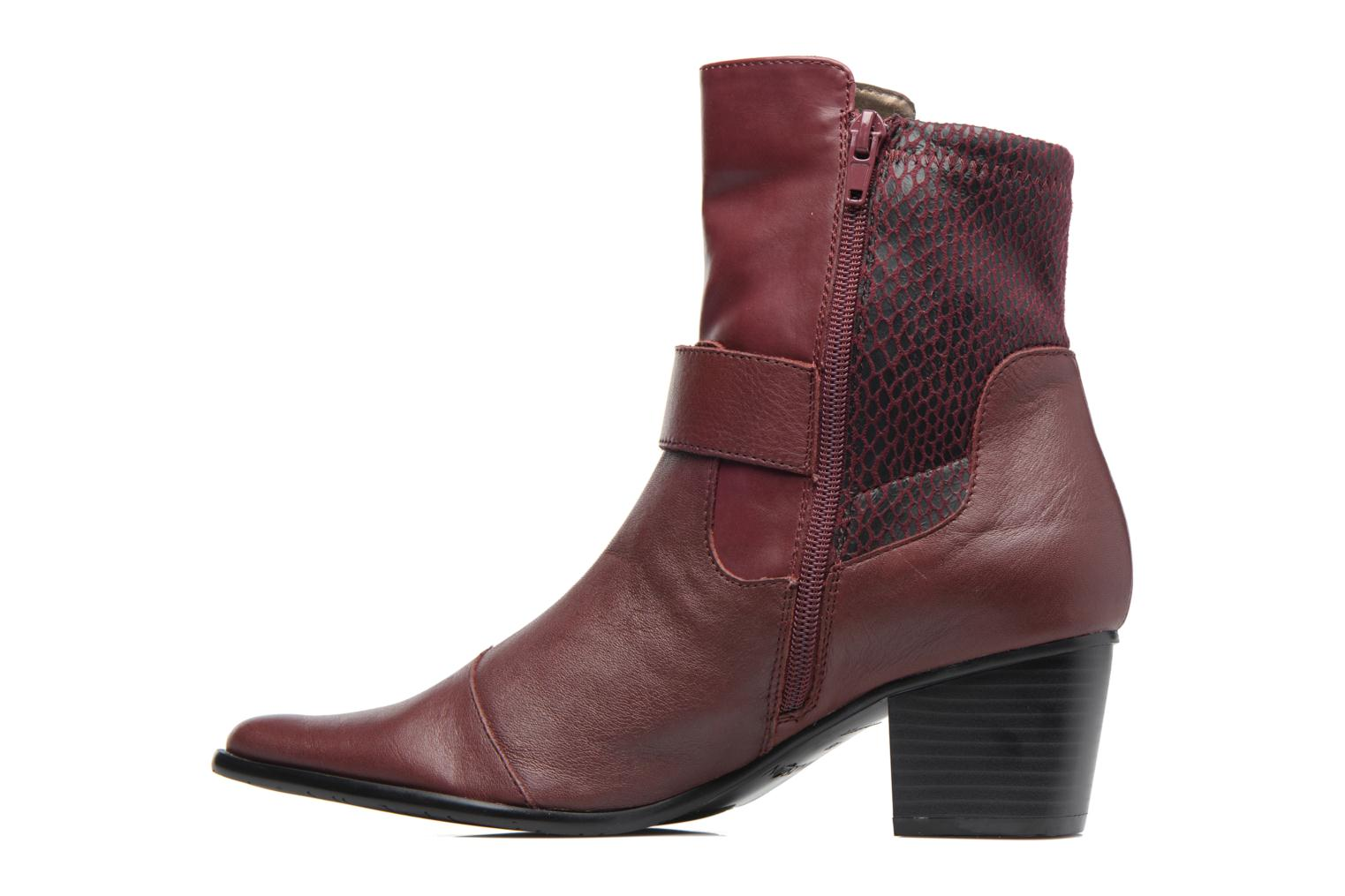 Ankle boots Madison AYDIVA Burgundy front view