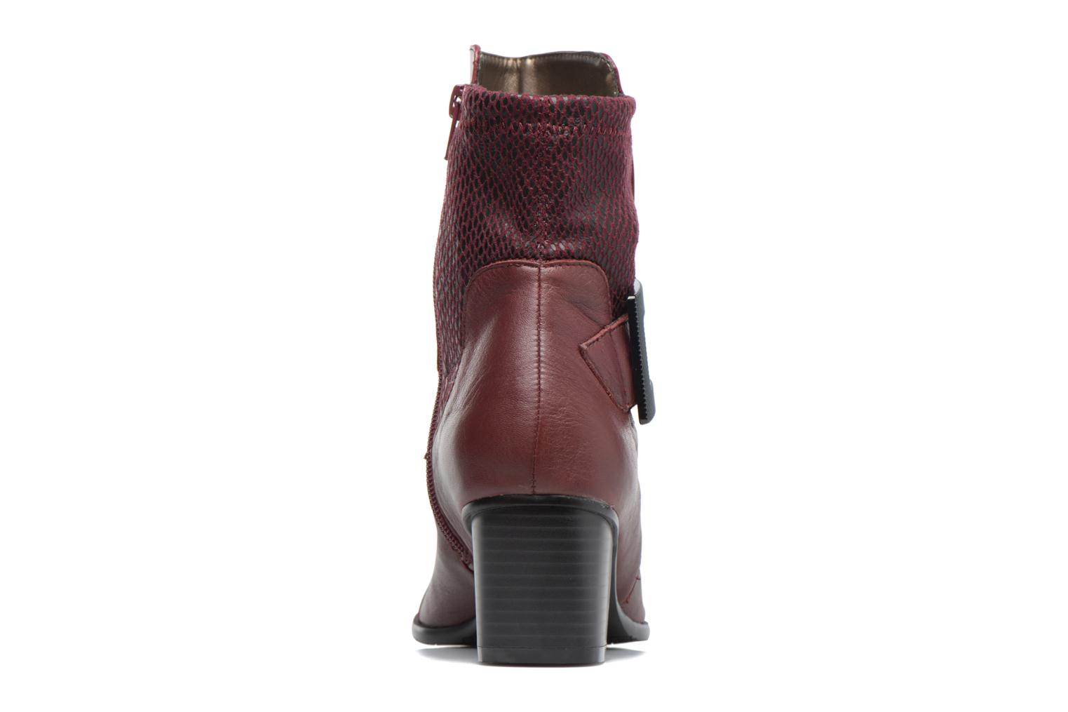 Ankle boots Madison AYDIVA Burgundy view from the right