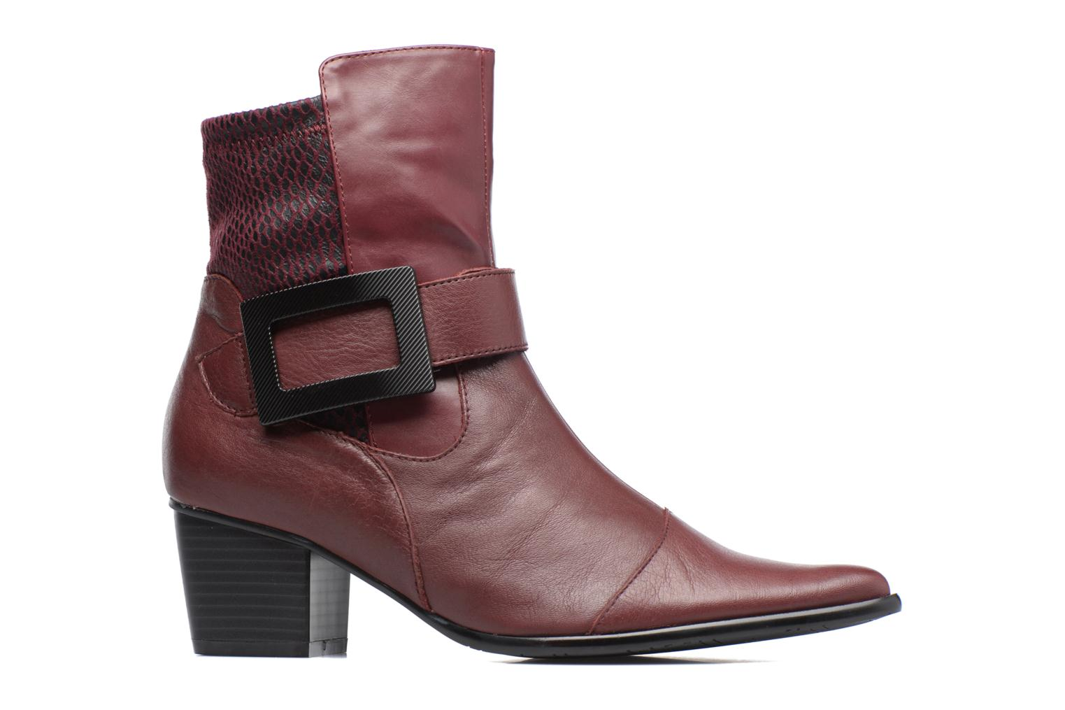 Ankle boots Madison AYDIVA Burgundy back view