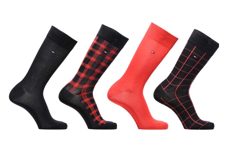 Chaussettes et collants Tommy Hilfiger GIFT BOX Chaussettes CALSSIC LOT DE 4 Rouge vue détail/paire