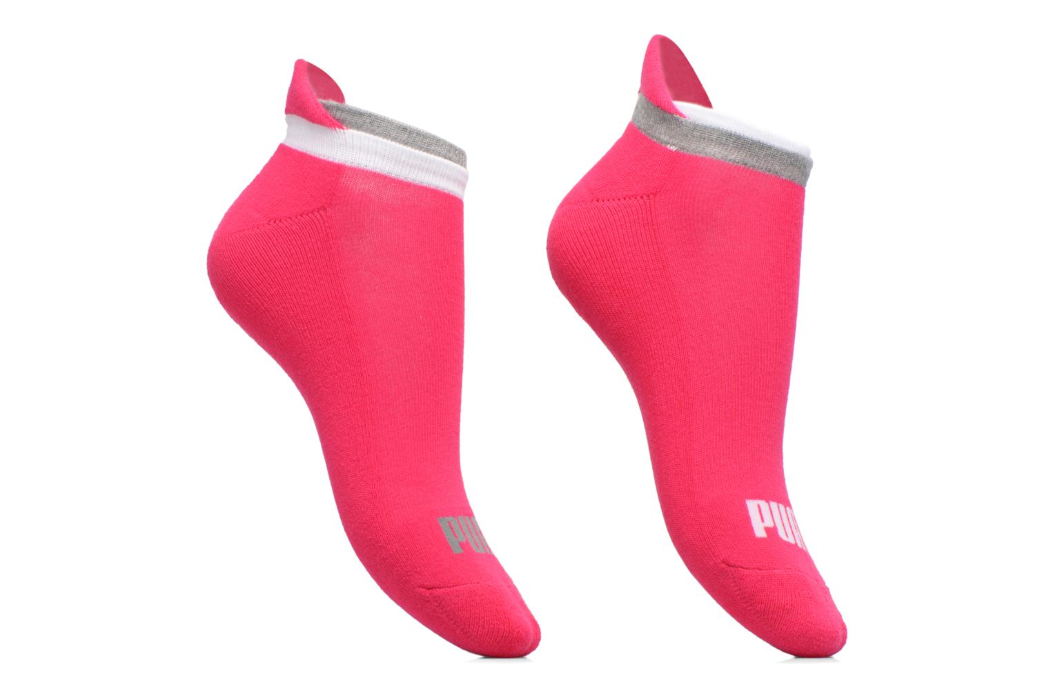 Chaussettes et collants Puma Socks LIFESTYLE SNEAKERS LOT DE 2 Rose vue détail/paire