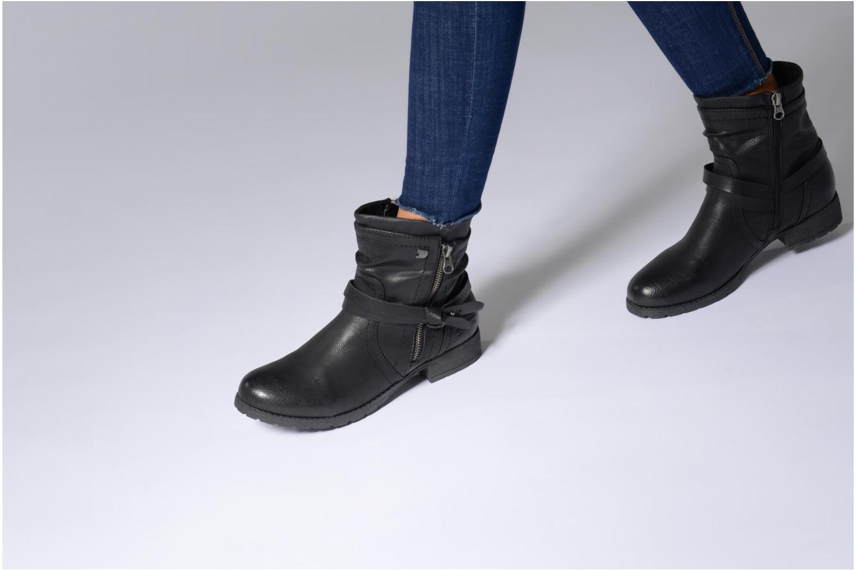 Bottines et boots Tom Tailor Rachel Noir vue bas / vue portée sac