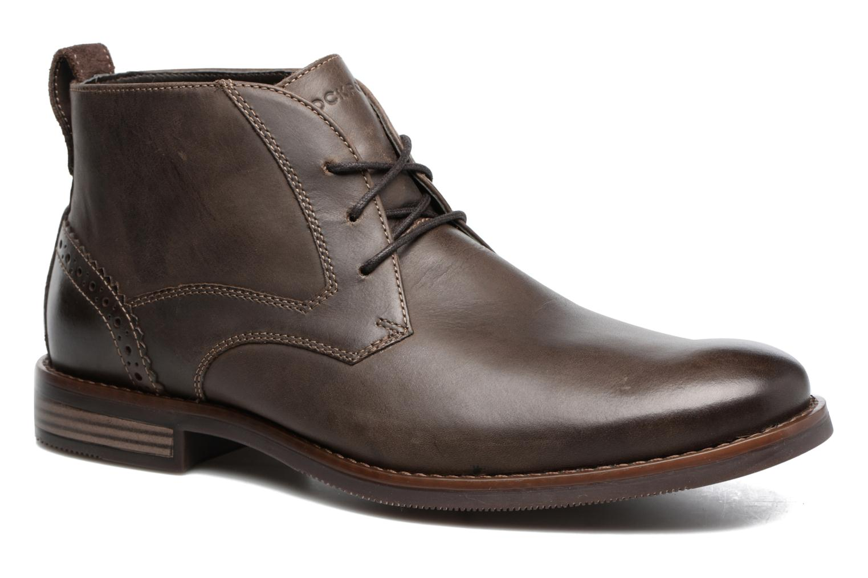 Bottines et boots Rockport Wynstin Chukka Marron vue détail/paire