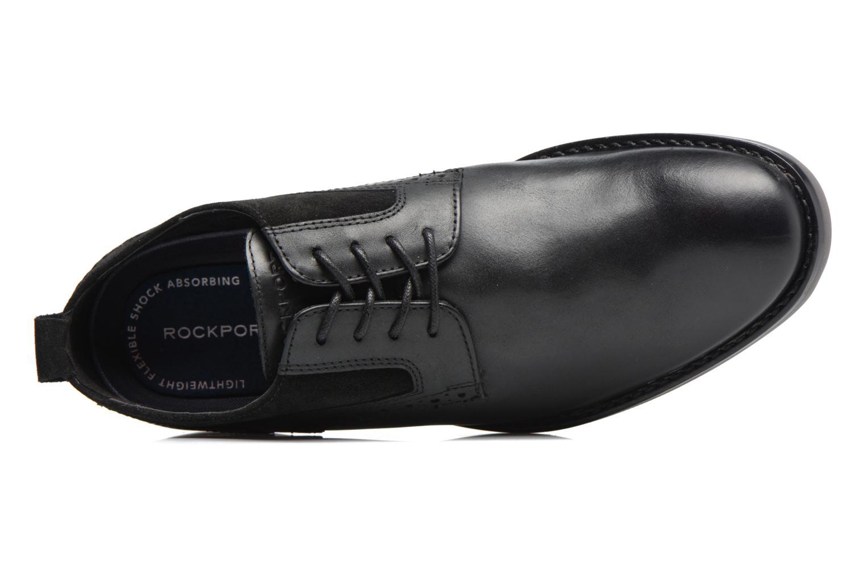 Chaussures à lacets Rockport Wynstin Plain Toe Noir vue gauche