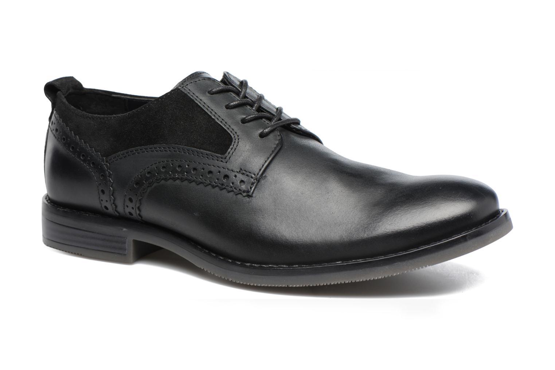 Chaussures à lacets Rockport Wynstin Plain Toe Noir vue détail/paire