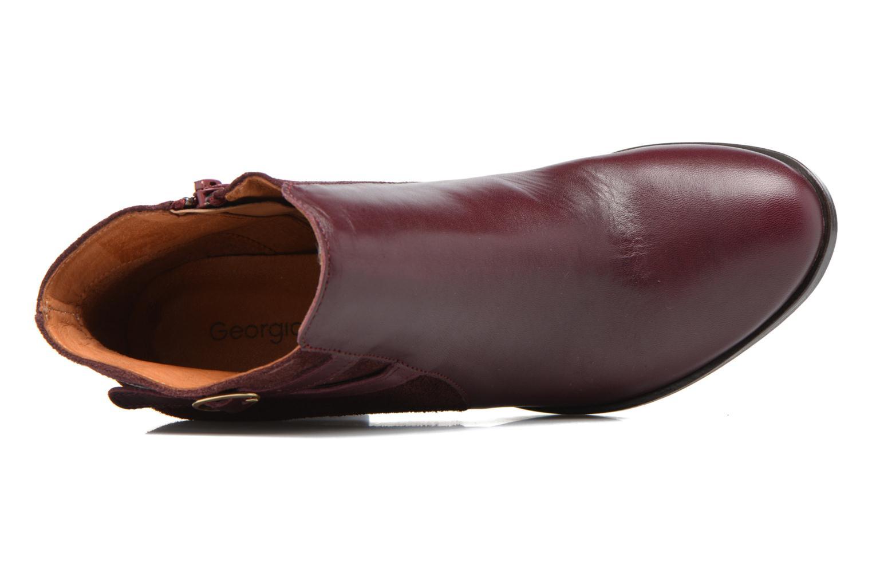 Bottines et boots Georgia Rose Cefema Bordeaux vue gauche