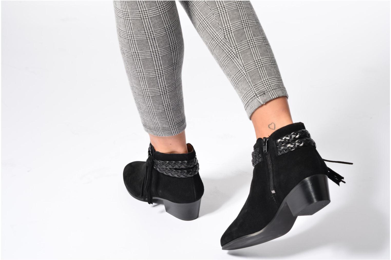 Bottines et boots Georgia Rose Cewest Noir vue bas / vue portée sac