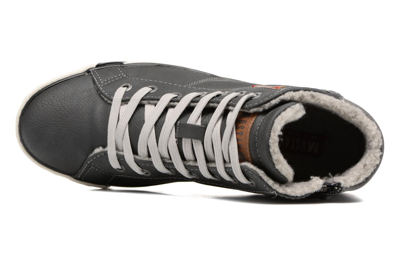 Baskets Mustang shoes Elia Gris vue gauche