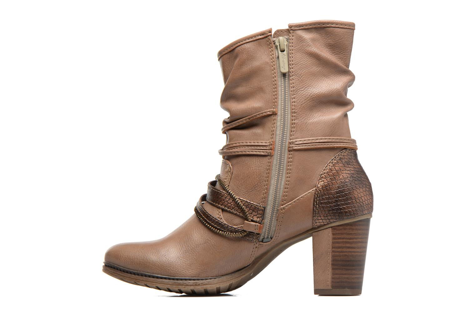Ankle boots Mustang shoes Louison 2 Brown front view