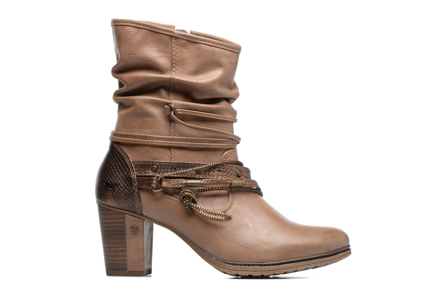 Ankle boots Mustang shoes Louison 2 Brown back view