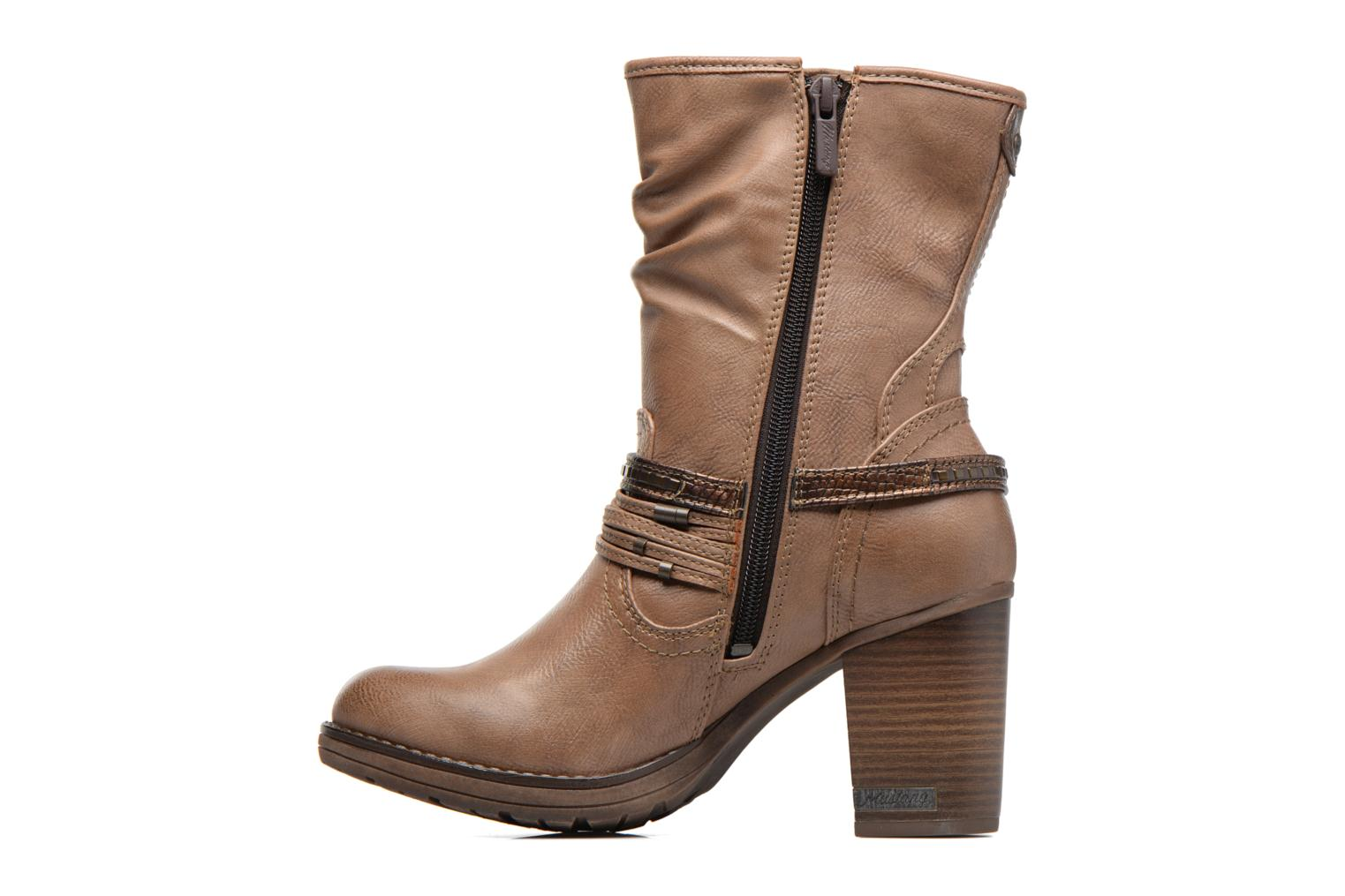 Boots & wellies Mustang shoes Taia Brown front view