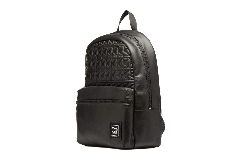 Sacs à dos Vans KL Leather Backpack Noir vue portées chaussures
