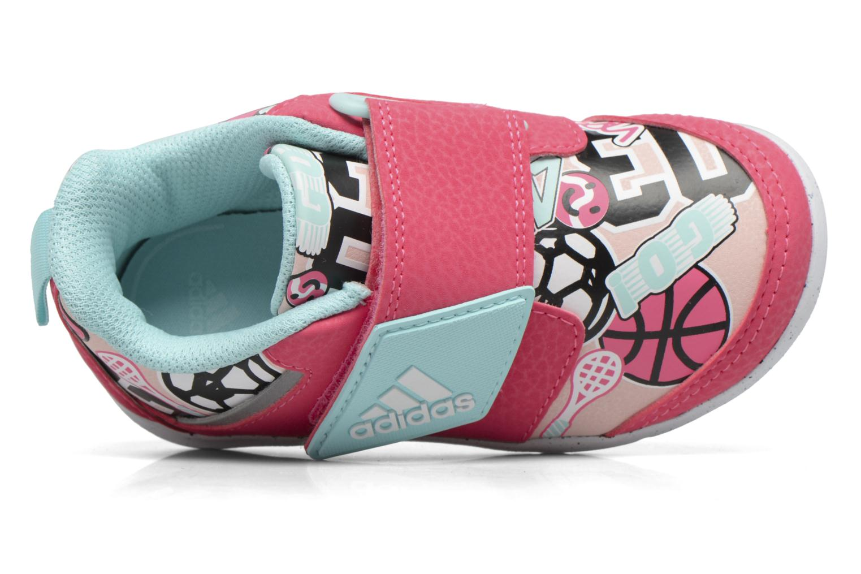 Baskets Adidas Performance Fortaplay Ac I Rose vue gauche