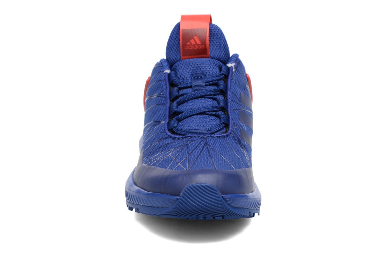 Baskets Adidas Performance Spider-Man Rapidarun K Bleu vue portées chaussures