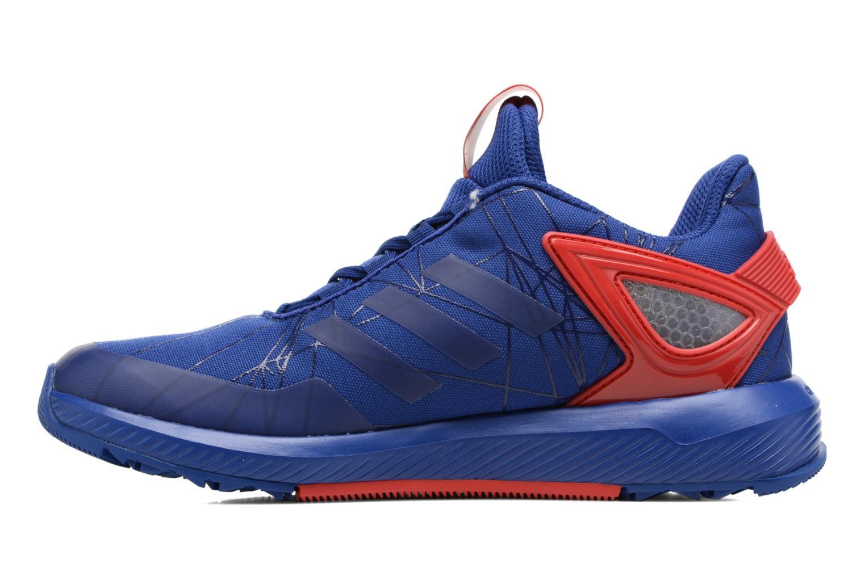 Baskets Adidas Performance Spider-Man Rapidarun K Bleu vue face