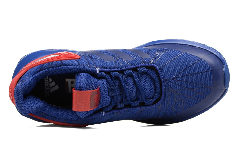 Baskets Adidas Performance Spider-Man Rapidarun K Bleu vue gauche