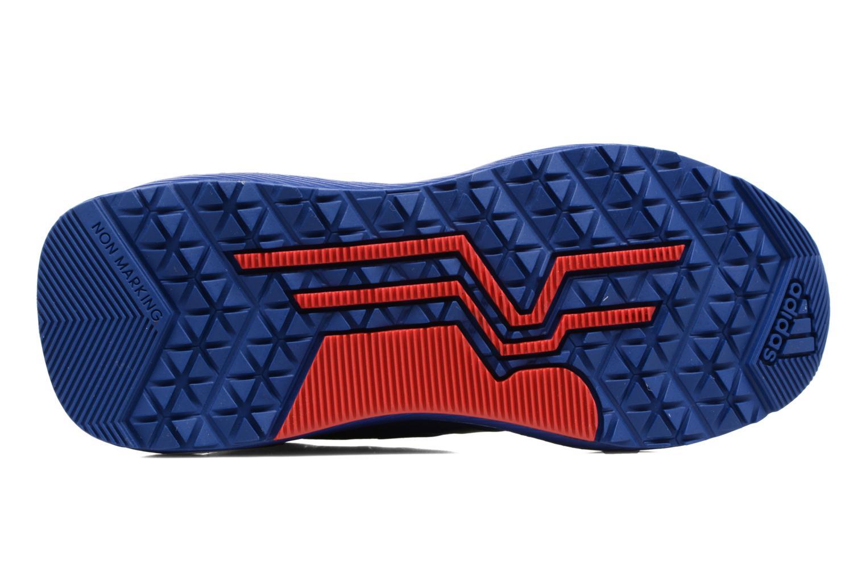 Baskets Adidas Performance Spider-Man Rapidarun K Bleu vue haut