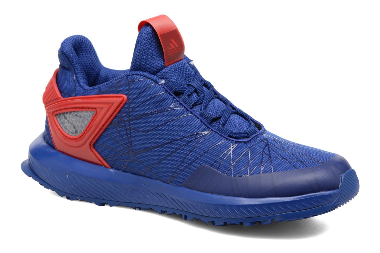 Baskets Adidas Performance Spider-Man Rapidarun K Bleu vue détail/paire