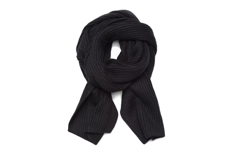 Pima Cotton Cashmere Scarf 002 Black