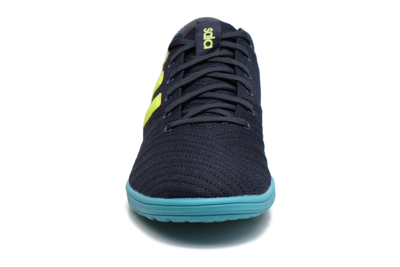 Chaussures de sport Adidas Performance Nemeziz 17.4 In Sala Bleu vue portées chaussures