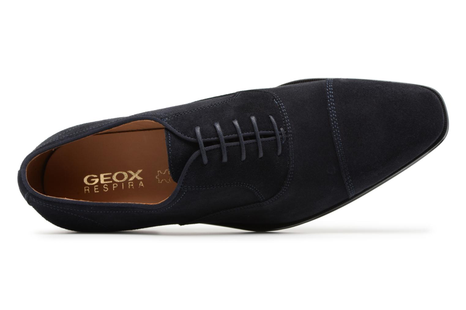 Veterschoenen Geox U New Life E U74P4E Blauw links