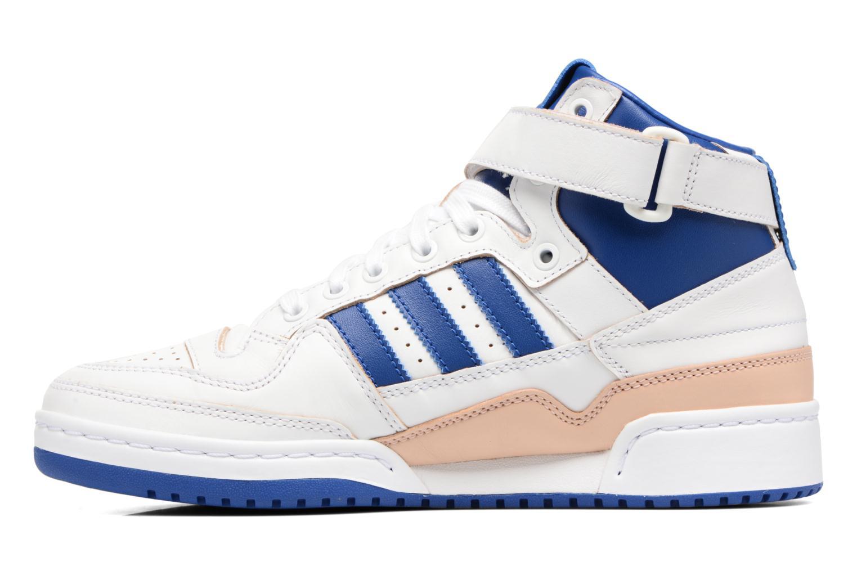 Baskets Adidas Originals Forum Mid (Wrap) Blanc vue face