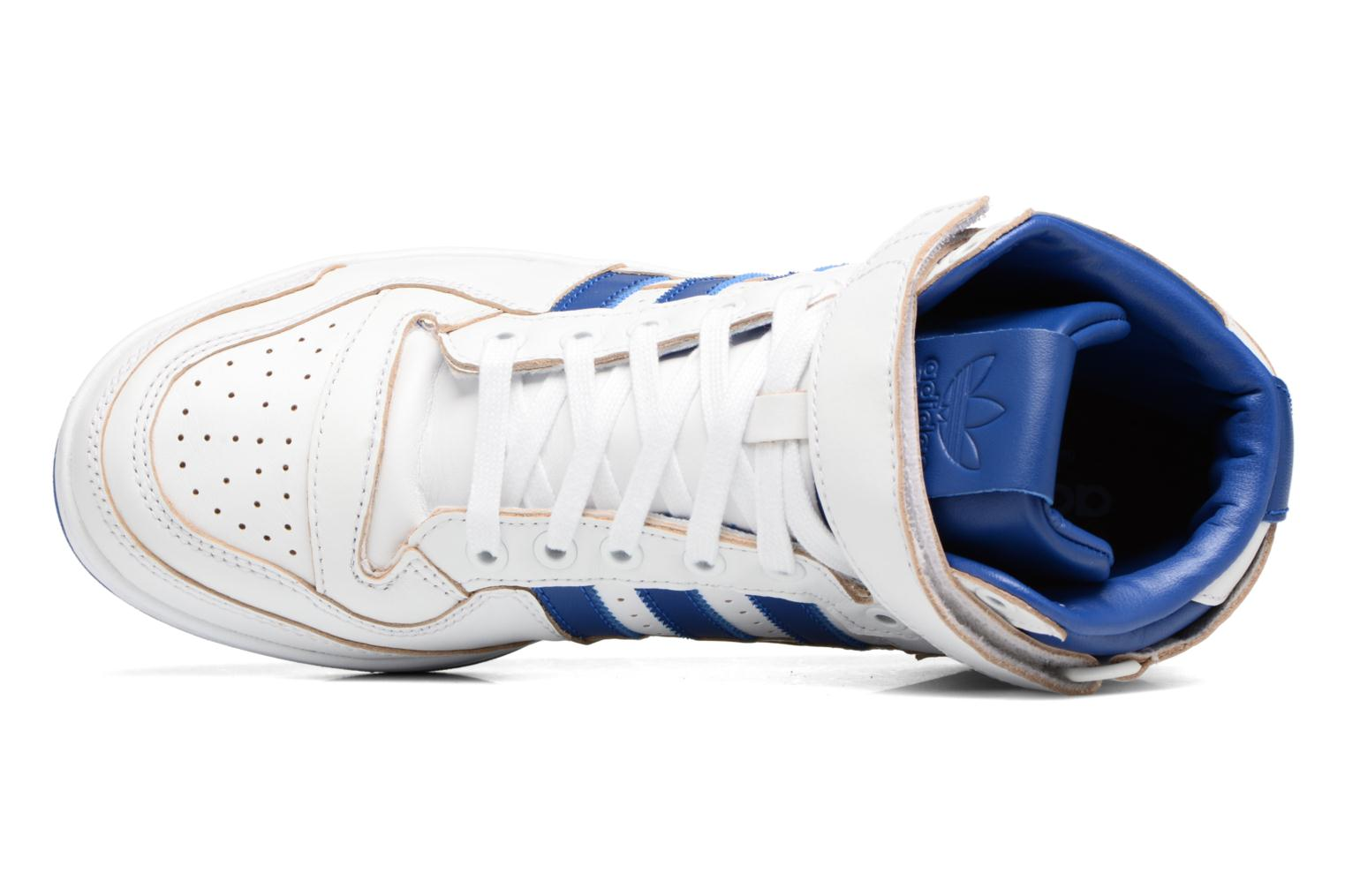 Trainers Adidas Originals Forum Mid (Wrap) White view from the left