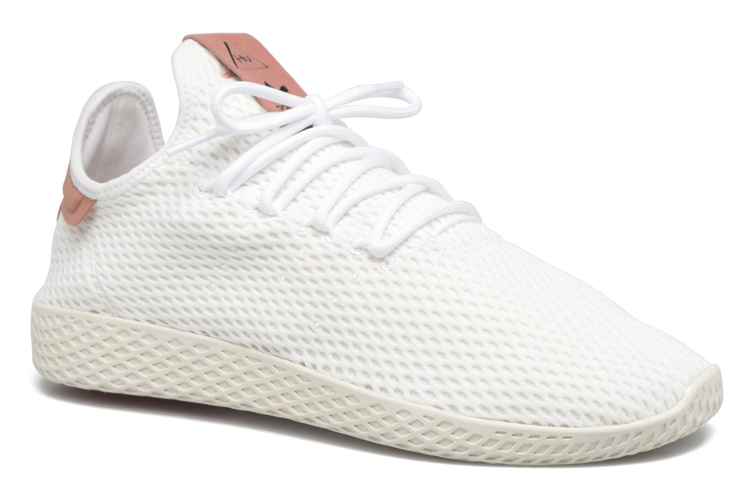 Baskets Adidas Originals Pharrell Williams Tennis Hu Blanc vue détail/paire