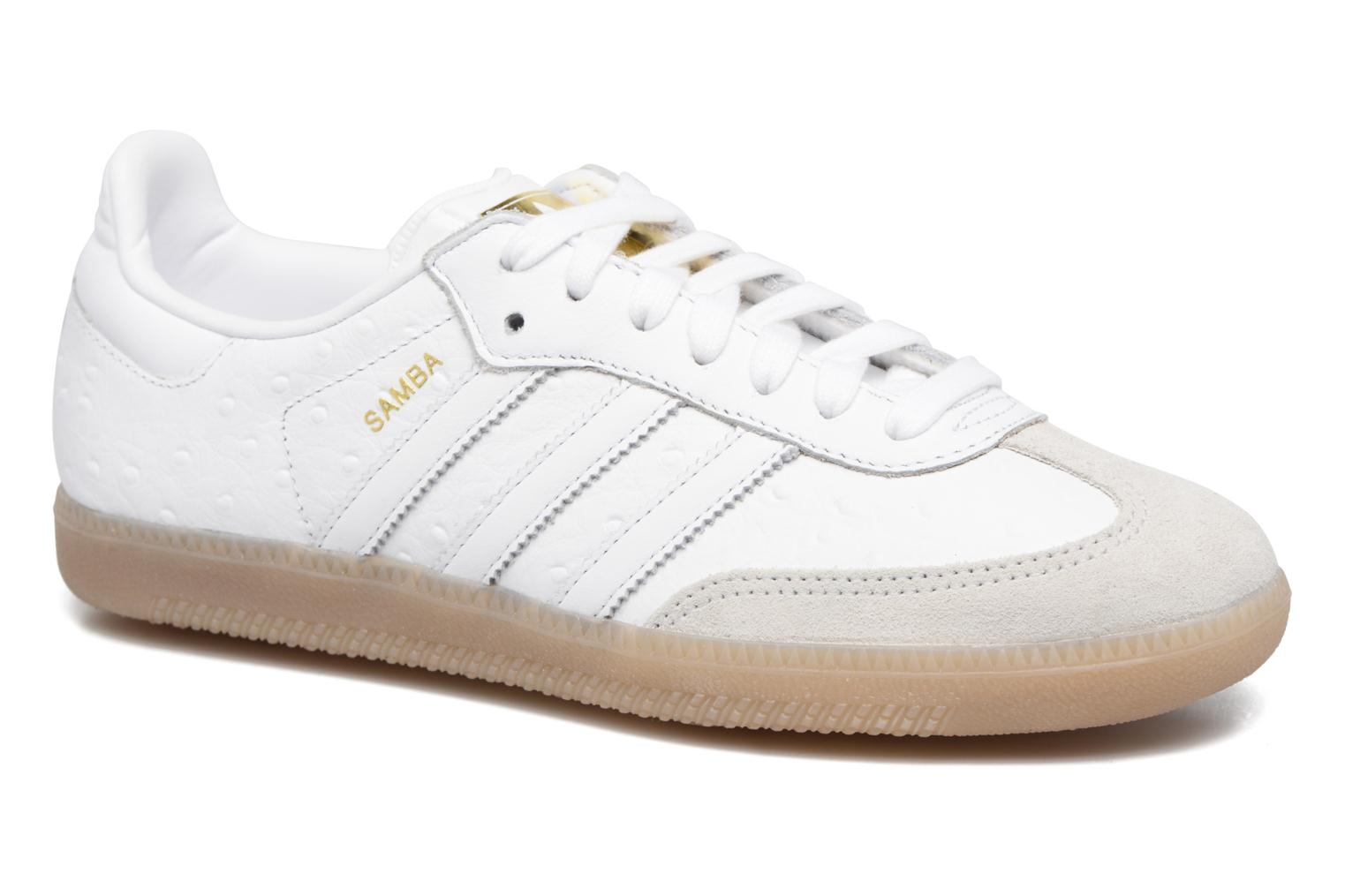 Baskets Adidas Originals Samba W Blanc vue détail/paire