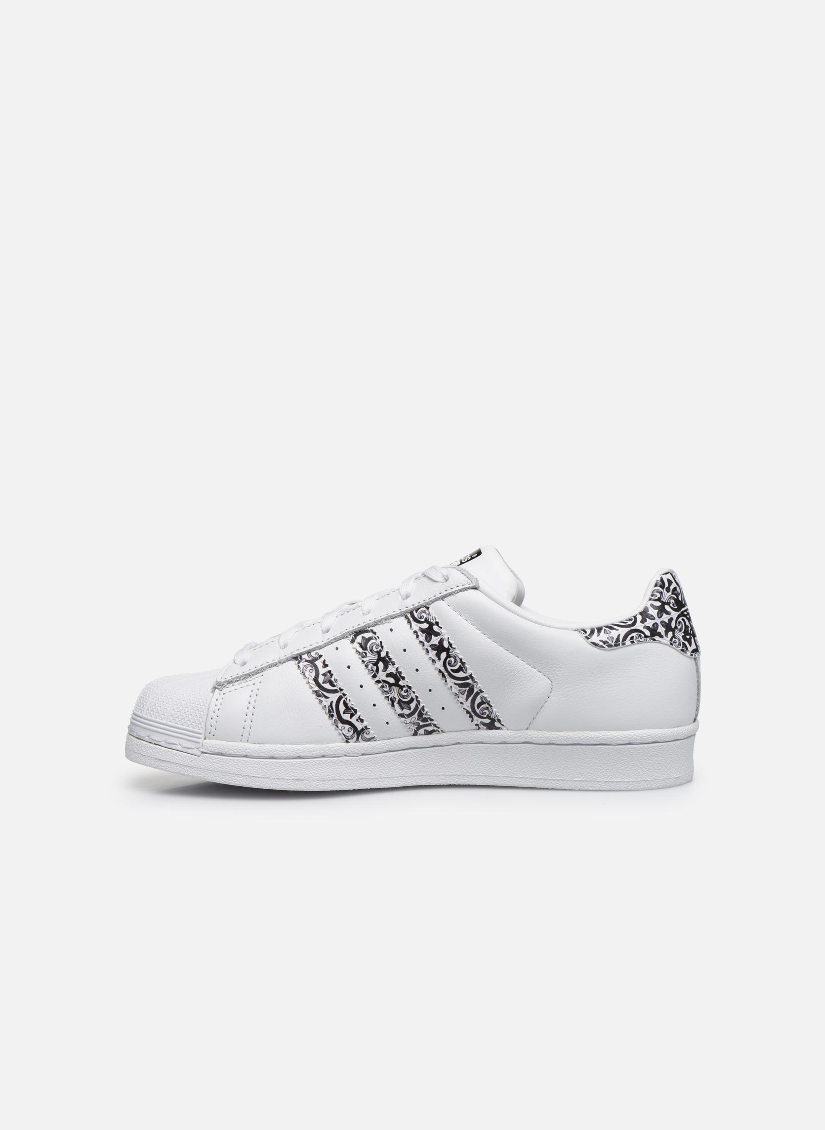 Baskets Adidas Originals Superstar W2 Blanc vue face
