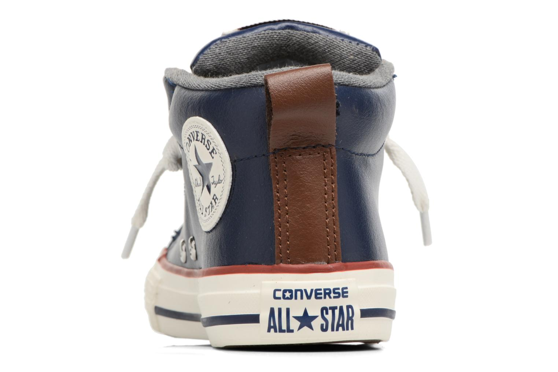 Baskets Converse Chuck Taylor All Star Street Holiday Fundamentals Mid Bleu vue droite