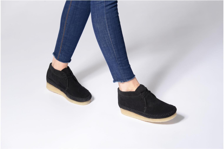 Stiefeletten & Boots Clarks Originals WEAVER BOOT W schwarz ansicht von unten / tasche getragen