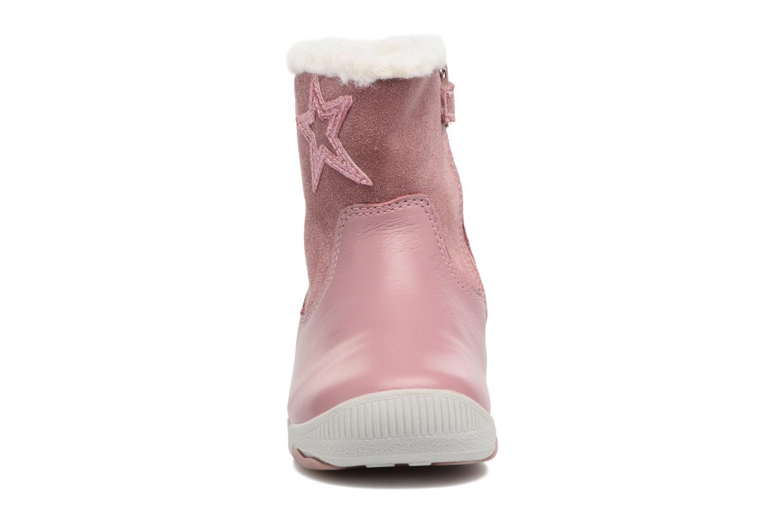 Bottes Geox B N. Balu G. B B740QB Rose vue portées chaussures