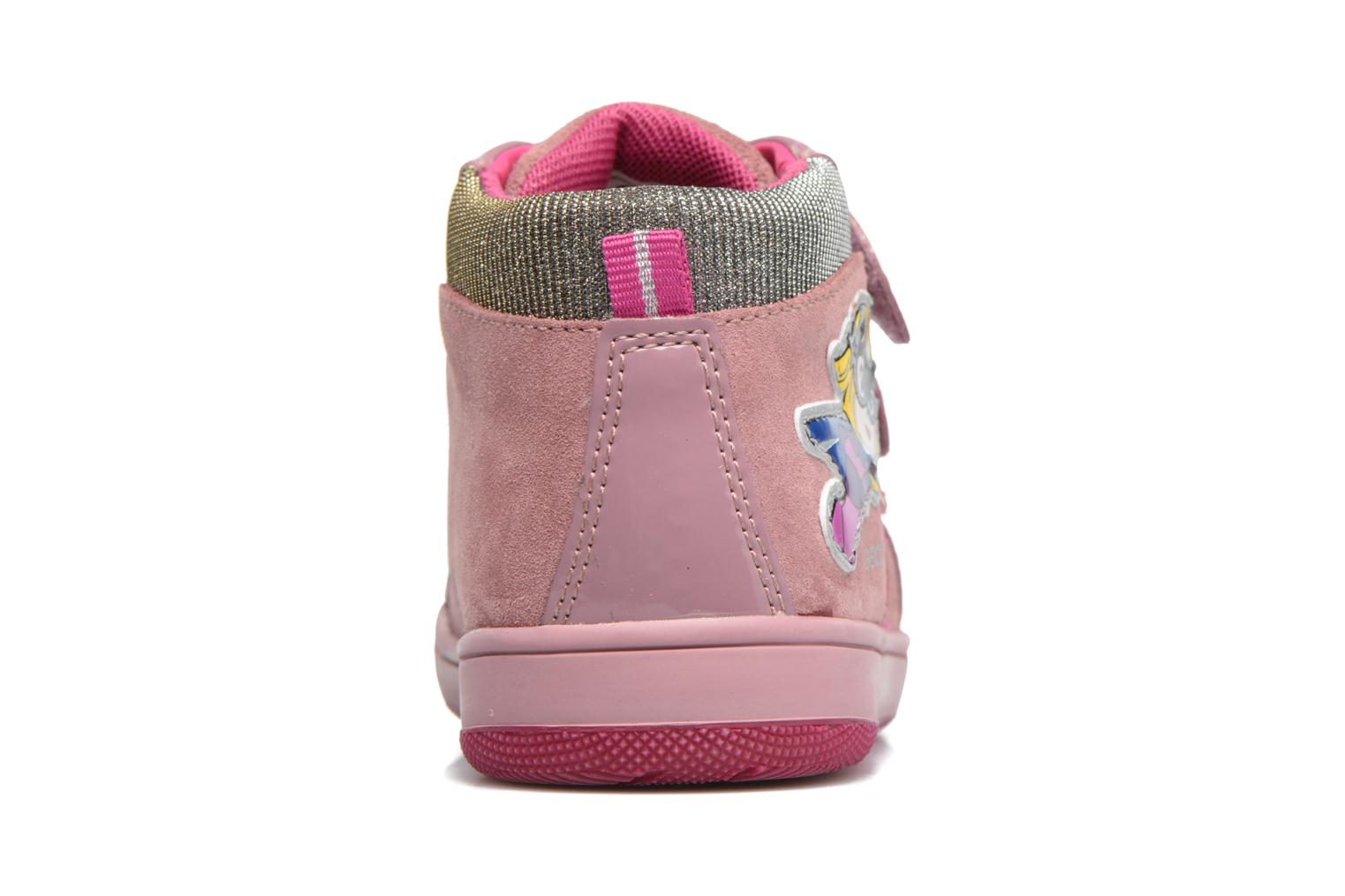 Trainers Geox B New Flick G. E B741HE Pink view from the right