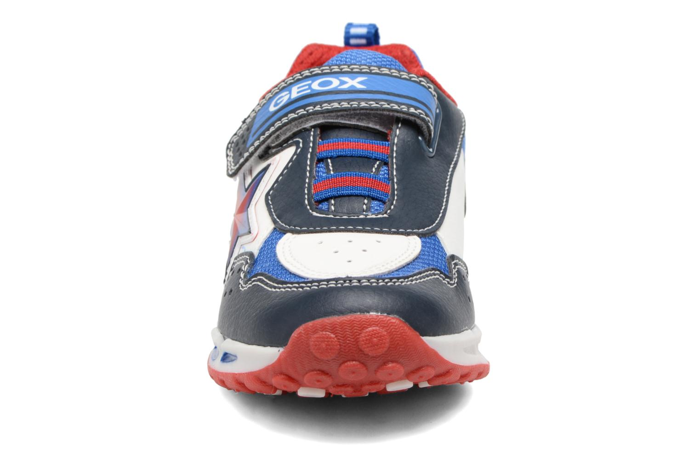 Baskets Geox J Shuttle B. B J7494B Bleu vue portées chaussures