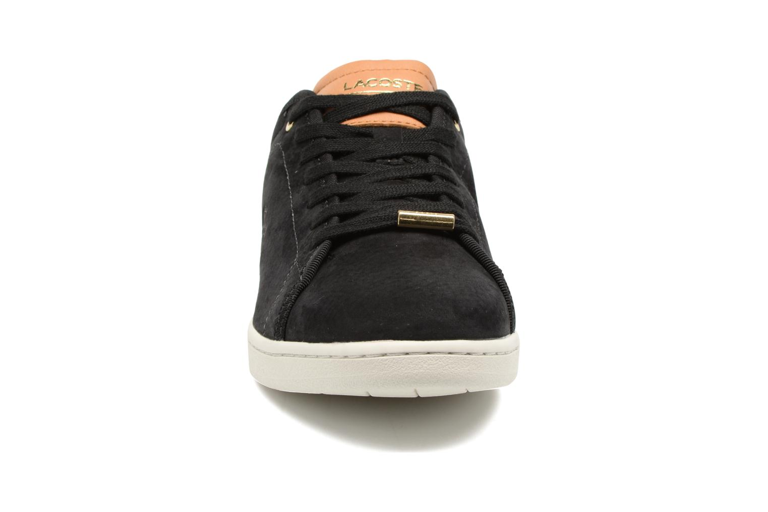 Baskets Lacoste CARNABY EVO 317 8 Noir vue portées chaussures