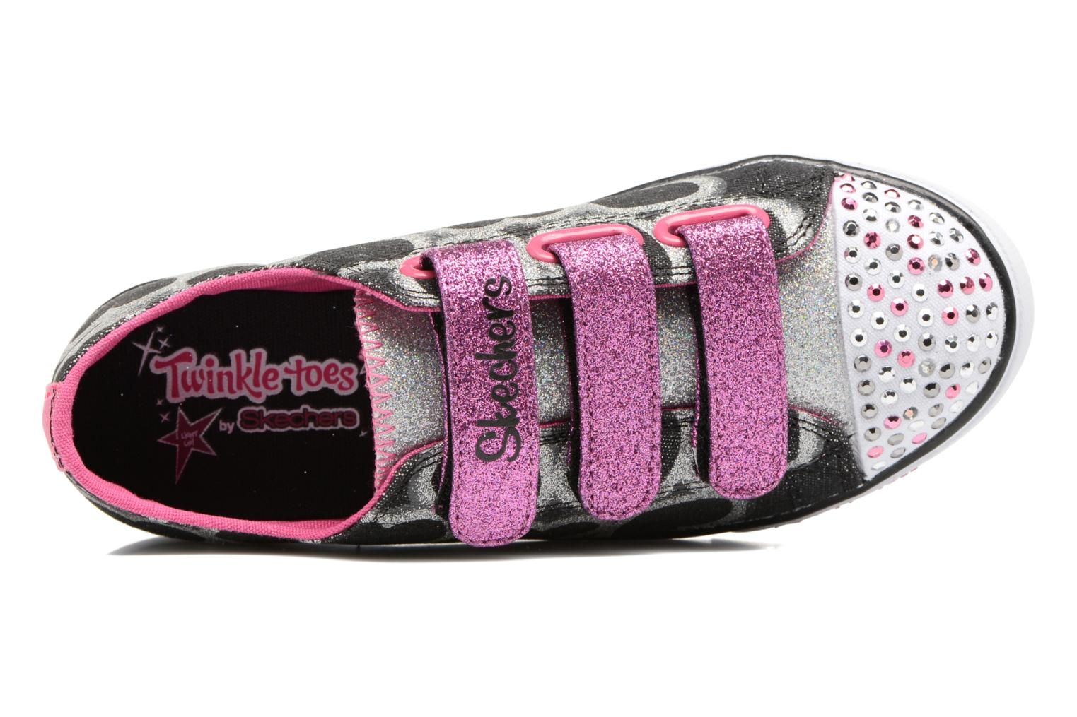 Baskets Skechers Sparkle Glitz Heartsy Glam Multicolore vue gauche