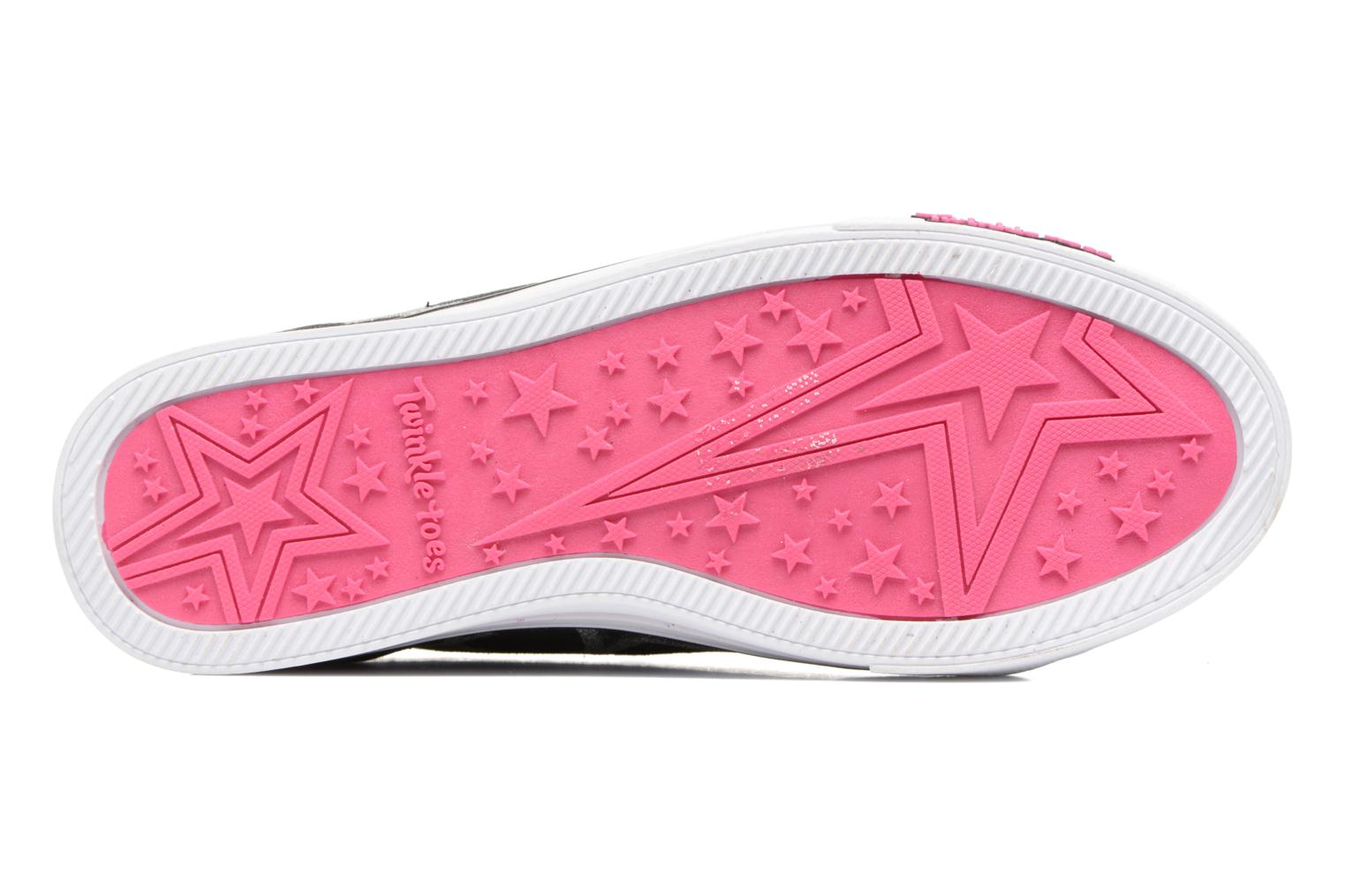 Baskets Skechers Sparkle Glitz Heartsy Glam Multicolore vue haut