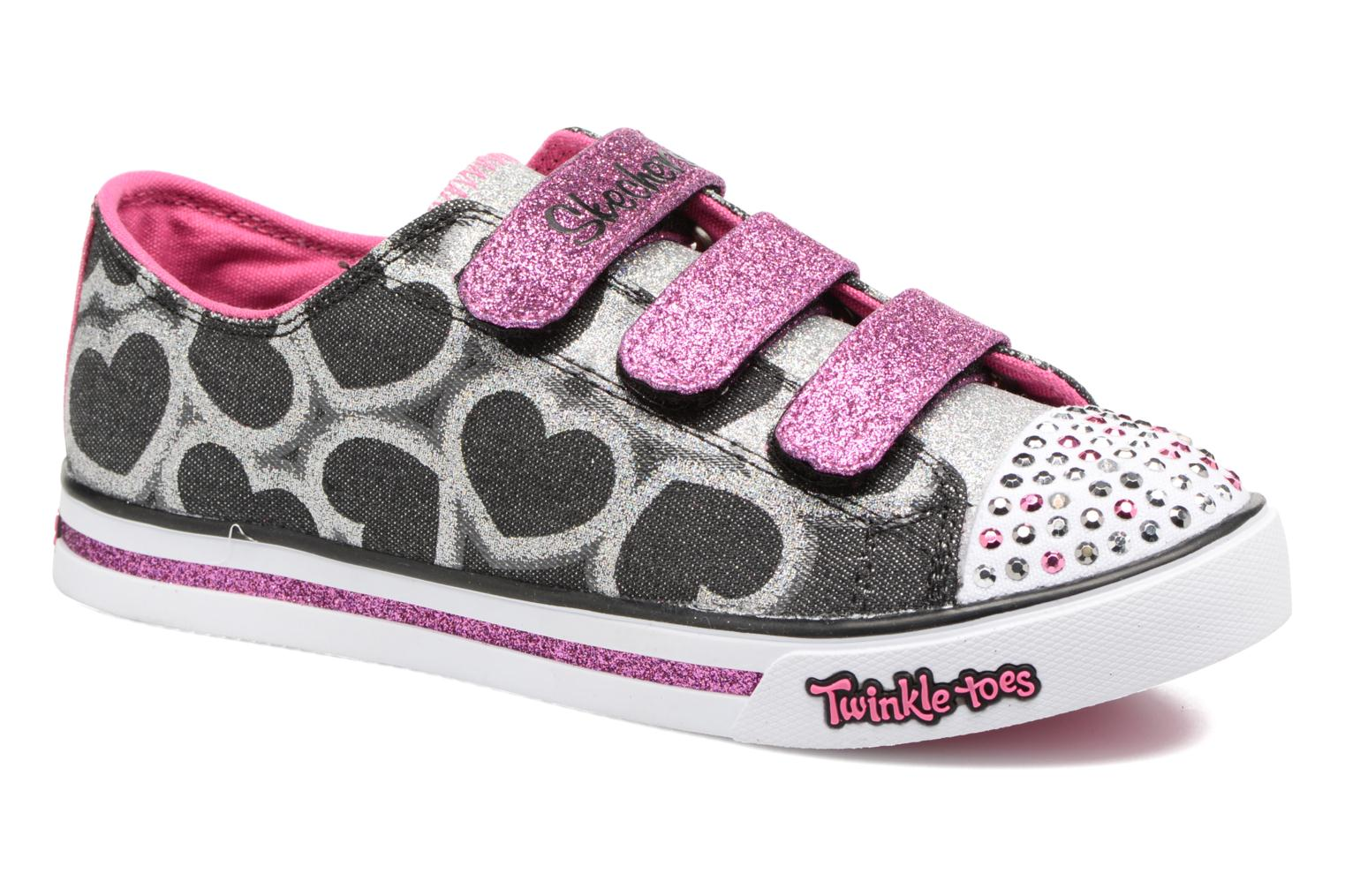 Baskets Skechers Sparkle Glitz Heartsy Glam Multicolore vue détail/paire