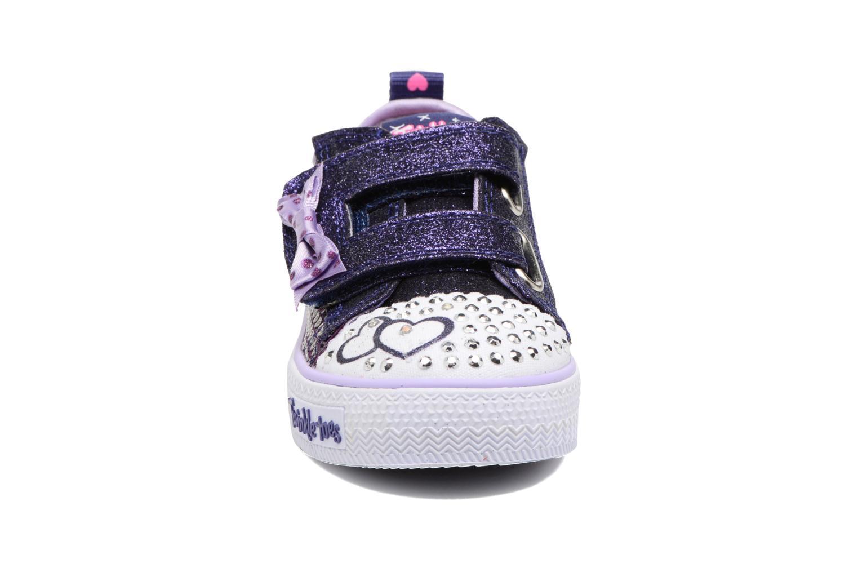 Baskets Skechers Shuffles Itsy Bitsy Violet vue portées chaussures