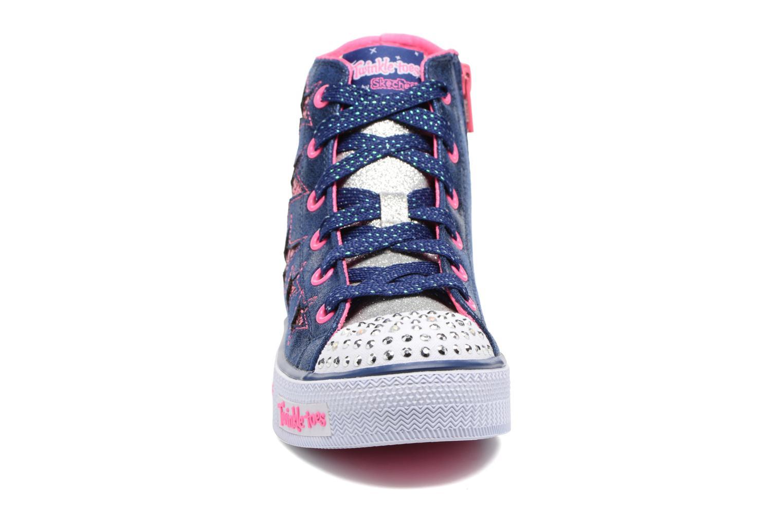 Baskets Skechers Shuffles Rockin Stars Bleu vue portées chaussures