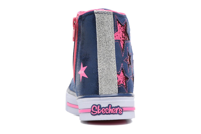 Baskets Skechers Shuffles Rockin Stars Bleu vue droite