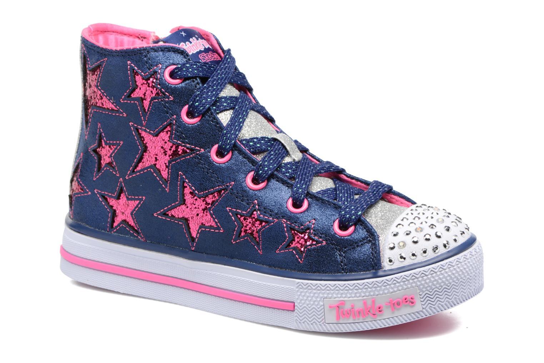 Baskets Skechers Shuffles Rockin Stars Bleu vue détail/paire