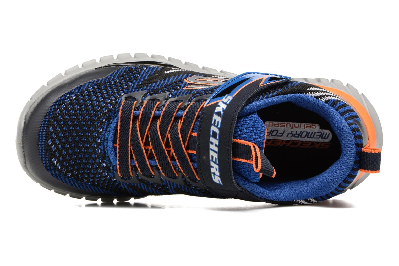 Sportschuhe Skechers Spektrix blau ansicht von links