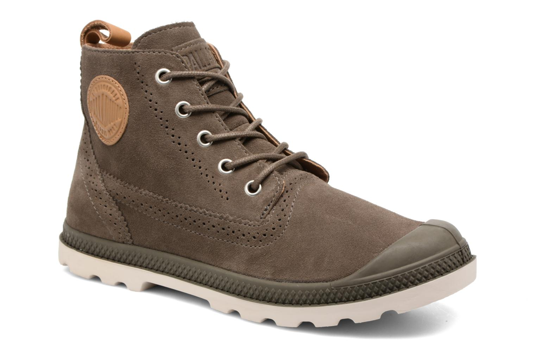 Palladium London Lp Mid W (Marron) - Bottines et boots chez Sarenza (307685)