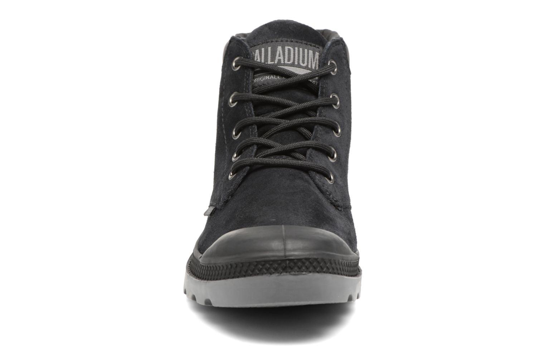 Bottines et boots Palladium Pampa Lo Cuff Sue Noir vue portées chaussures