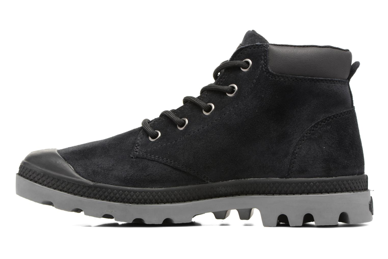Bottines et boots Palladium Pampa Lo Cuff Sue Noir vue face