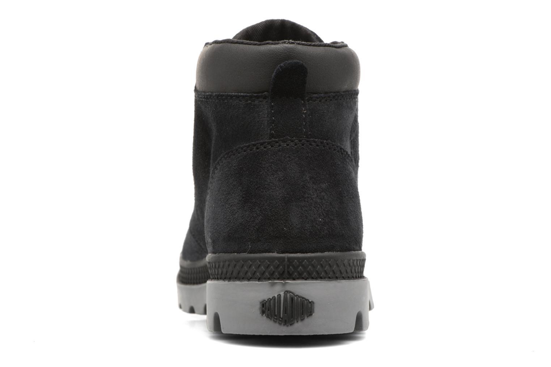 Bottines et boots Palladium Pampa Lo Cuff Sue Noir vue droite